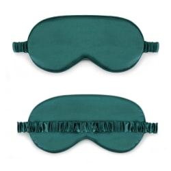 Mjuk Sovmask Ögonmask i Silke Flyg Resor - Grön grön