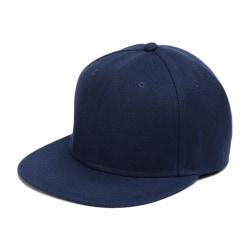 Mörkblå Keps Snapback med Spänne blå one size
