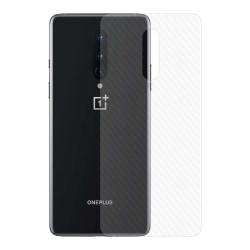 OnePlus 8 Kolfiber Vinyl Skin Dekal Skyddsfilm Baksida Carbon transparent