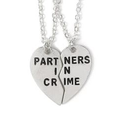Parhalsband för Kompisar Par Partners in Crime Silver silver
