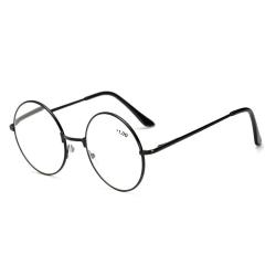 Retro Runda Läsglasögon Svart Styrka 1.0 Glasögon svart