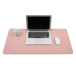 Rosa Skrivbordsunderlägg 80x40cm Skinn Läder rosa