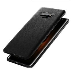 Samsung Galaxy Note 9 Mobilskal Svart Läder Skinn svart