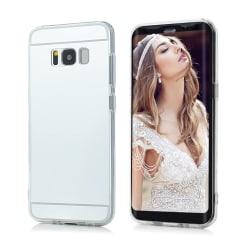 Samsung Galaxy S8 Plus Fodral Spegel TPU Bumper silver