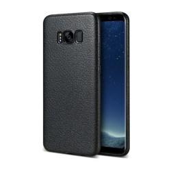Samsung Galaxy S8 Plus Mobilskal Svart Läder Skinn svart