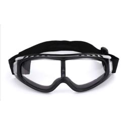 Svarta Skidglasögon Klart Glas Goggles MC MX Mopedglasögon svart