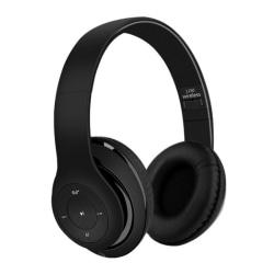 Trådlösa Super Bass Bluetooth Stereo Over-Ear Hörlurar 3.5mm AUX svart
