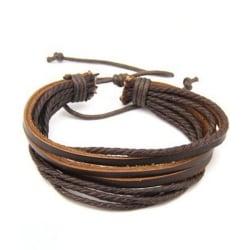 Trendigt Läderarmband Nomad (Brun) brun