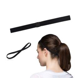 Tunt Pannband Hårband för Sport Träning - Svart svart