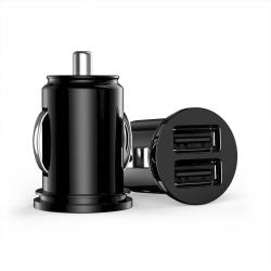 Universal Billaddare med 2 USB 3.1A svart