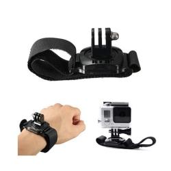 Universalt Armband Gopro Actionkamera Kamera Handledsstöd svart