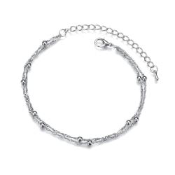 Vacker Ankellänk Kedja Fotlänk Fotkedja Vristlänk i Silver silver