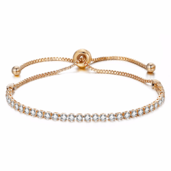 Vackert Armband Guld med Kubisk Zirconia Diamanter guld