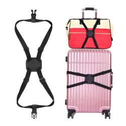 Väskhållare Bagageband - Fäst Väska Handbagage på Resväska svart