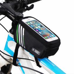 """Vattentät Cykelväska med Mobilhållare Mobil 5,7"""" svart"""