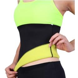 Waist Trainer/Shapewear Stretch Ryggstöd för Bättre Hållning (L) svart L