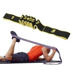Yoga Pilates Stretch Band för Stretching Ökad Rörlighet gul