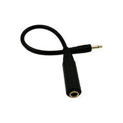 Gitarrsladd Instrumentkabel adapter 3.5mm hane 6.35mm hona