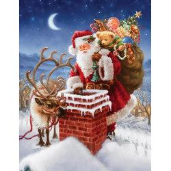 Diamond painting 5D Diamantmålning jul julkalenr 30*40cm