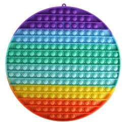 mega / stor fidget toys pop it leksak sensory regnbåge 30cm