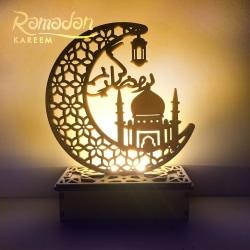 Ramadan eid mubarak dekoration led ljus