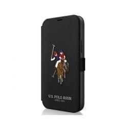 iPhone 12 mini • Plånboksfordal • US Polo • Brodery Line • Sv...