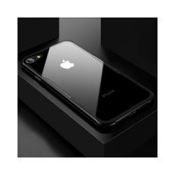 iPhone 8 / 7 / SE (2020) - Glass Case X - Härdat glas - Svart