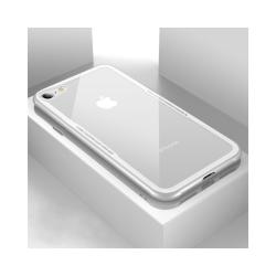 iPhone 8 / 7 / SE (2020) - Glass Case X - Härdat glas - Vit