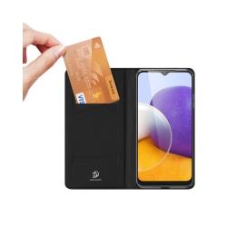 Samsung Galaxy A22 5G • Plånboksfodral • DUX DUCIS • Svart...