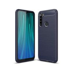 Xiaomi Redmi Note 8 Mobilskal - Kolfiber design - Blå