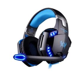 G2000 Deep Bass spel hörlurar blå