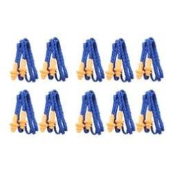 10 par Öronproppar med snöre l BLÅ l Återanvändbar  blå 70 cm