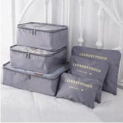 Insatser till resväskor (6 pack) - Bag in Bag silver