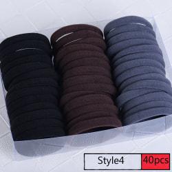 40/60 st elastiska hårband Gummiband elastiska STYLE4 40ST