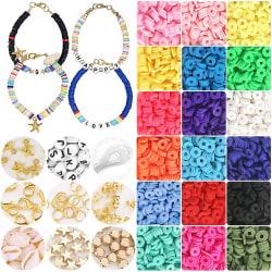 4800 st Polymer Clay Spacer Pärlor Smycken gör uppsättningar