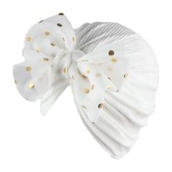 Baby Turban Hat Bowknot Mössor VIT White