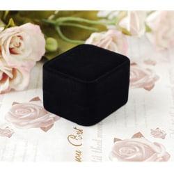 Box Ring Velvet SVART