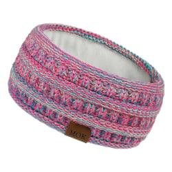 Öronvärmare pannband för kvinnor Stickat hårband Huvudband WARM PINK