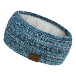 Öronvärmare pannband för kvinnor Stickat hårband Huvudband BLÅ MIX