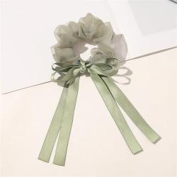 Elastiska hårband Små hårknutar Scrunchies GRÖN green