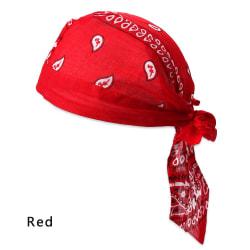 Pirate Hat MuslimTurban Headscarf Bandana RÖD red