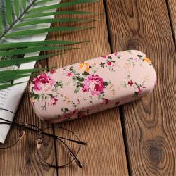 Glasögonfodral Solglasögonhållare LJUS ROSA BLOMSTERBLOM light pink Flower-Flower