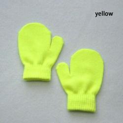 Stickade handskar Full Finger Vantar Vinterhandske GUL