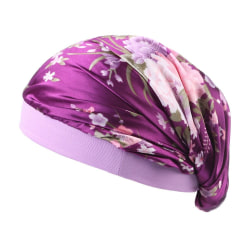 Dreadlock-keps med satinhuv purpur purple