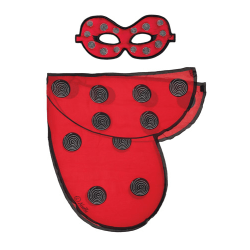 Vingar + ansiktsmask - Nyckelpiga