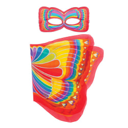 Vingar + ansiktsmask - Regnbågsfjäril