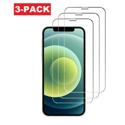 3-Pack - iPhone 12/12 Pro - Extra Stark Härdat Glas Skärmskydd Transparent iPhone 12 / 12 Pro (6.1)