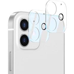 C4U® 2-Pack linsskydd för iPhone 12 Kamera i härdat glas  Transparent iPhone 12 (6.1)