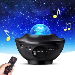 Stjärnprojektor LED - Galaxy Star Projector -Högtalare Bluetooth Svart