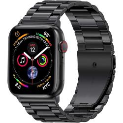 Klockarmband 42/44 Apple Watch 1/2/3/4/5/6/SE Armband Rostfritt Svart